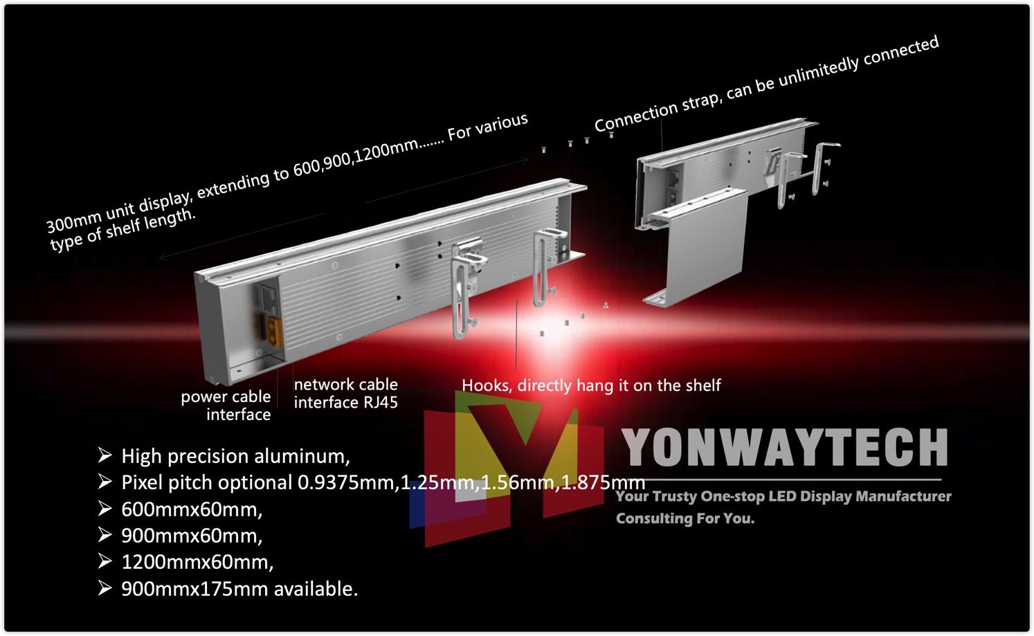 P0.9375,P1.25,P1.56,P1.875 Smartshelf LED Banner Display,Digital Price Tags manufacturer