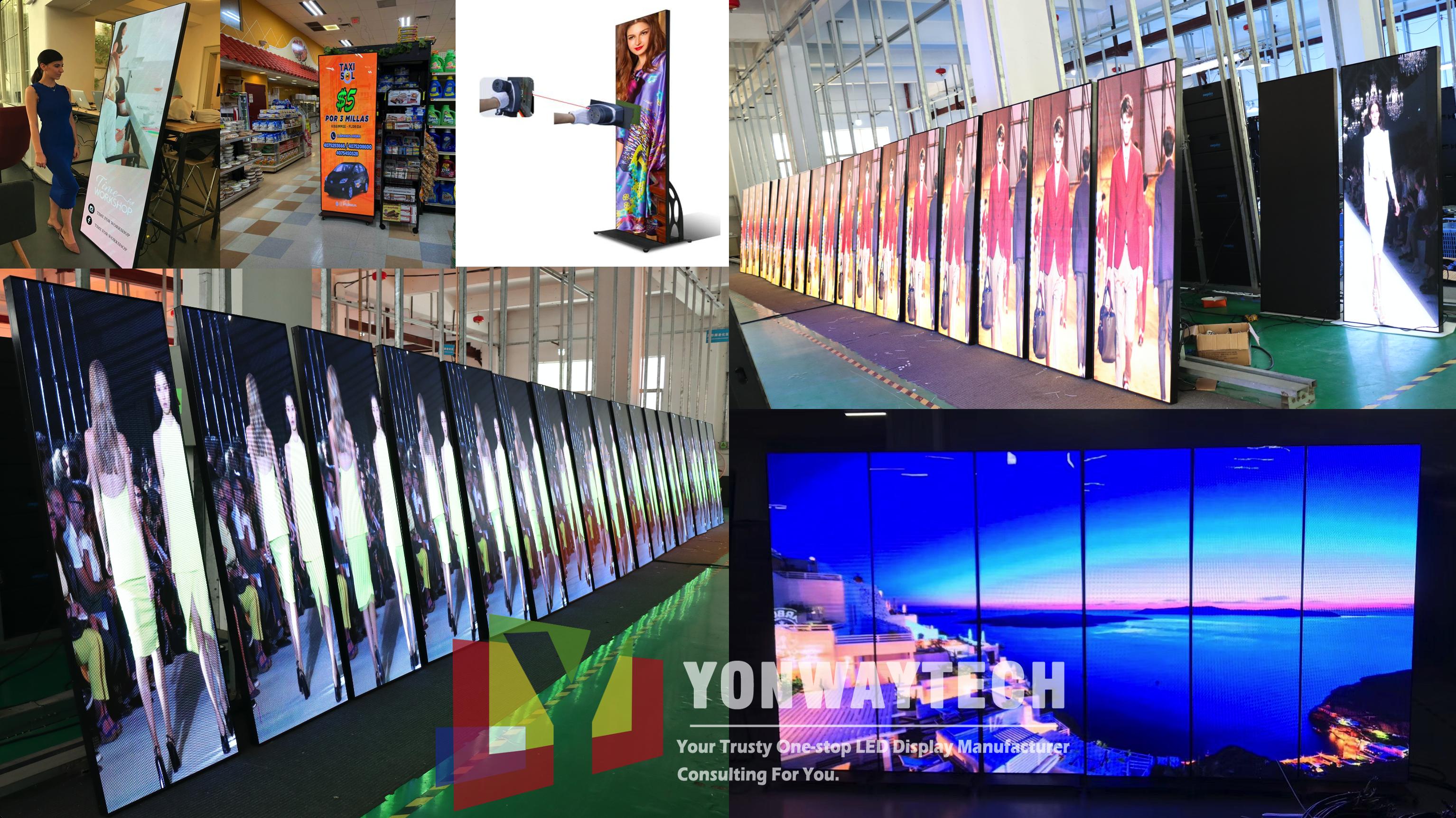 Yonwaytech Plug&playing led poster p2.5 led display